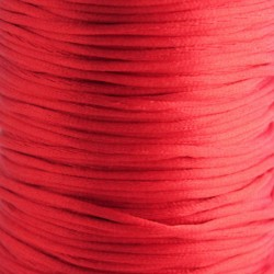 2mm Satin Rattail Cord - Red