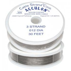 "Acculon 3 Strand Clear 0.012"" - 30ft"