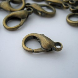 Lobster Clasp 14mm - Bronze Tone