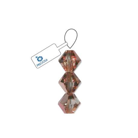 Preciosa 4mm Bicone Beads - Crystal Capri Gold