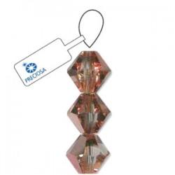 Preciosa 6mm Bicone Beads - Crystal Capri Gold