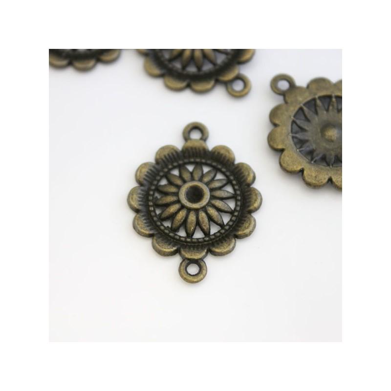 Bronze Tone Flower Connectors Jewellery Making Findings