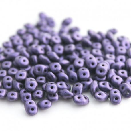 SuperDuo Beads - Metallic Suede Light Purple