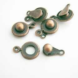 Copper Tone Push Button Clasp