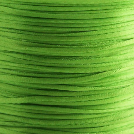 1mm Satin Cord - Lime Green