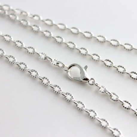 jewelry amazon inch silver com sterling chain necklace cable dp kezef