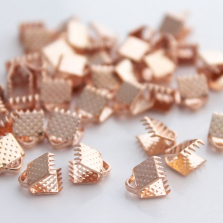 Ribbon Ends - Rose Gold Plated