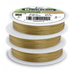 Beadalon 7 Strand Satin Gold 0.38mm Beading Wire