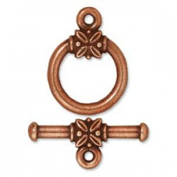 TierraCast Antique Copper Large Leaf Toggle Clasp