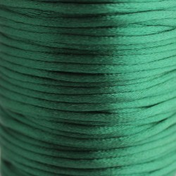 2mm Satin Rattail Cord - Forest Green