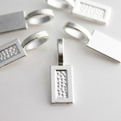 Silver Plated Glue On Pendant Bail