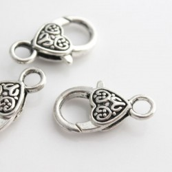 26mm Lobster Clasp - Antique Silver Tone
