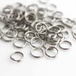 7mm Spilt Rings - Silver Tone - Pack of 100