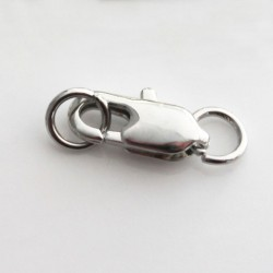 12mm Lobster Clasp - Silver Tone - Pack of 1