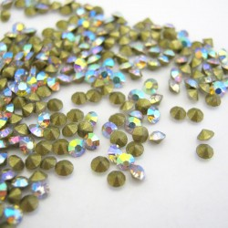 2mm Chaton Rhinestones - Crystal AB