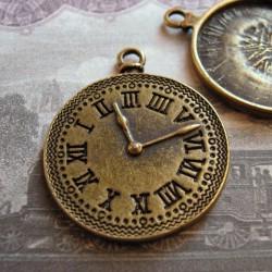 Clock Charm Bronze Tone