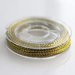 1mm Braided Metallic Cord - Gold