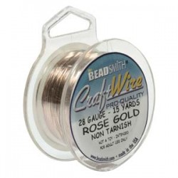 28ga Beadsmith Nickel Free Craft Wire - Rose Gold