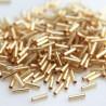 Miyuki 6mm Bugle Beads - Silver Lined Gold