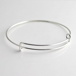 Expandable Bangle 20cm - Silver Plated