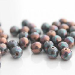 6mm Druk Bead - Opaque Cream Iris Lustre