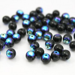 6mm Druk Bead - Jet AB