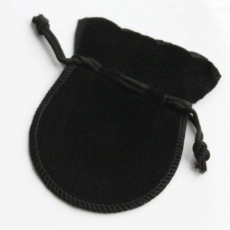 Small Velvet Gift Bag - Black