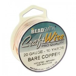 20 Gauge Beadsmith Nickel Free Craft Wire - Bare Copper