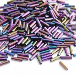 Miyuki 6mm Bugle Beads - Purple Iris