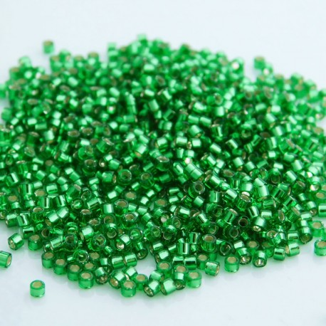 Delica 11/0 (DB046) Miyuki Seed Beads - Silver Lined Light Green