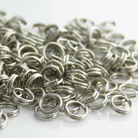 5mm Spilt Rings - Silver Tone