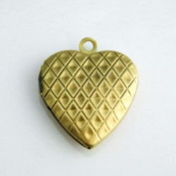 23mm Heart Locket - Bronze Tone
