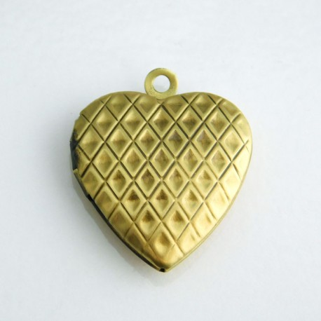 23mm Heart Locket - Bronze Tone