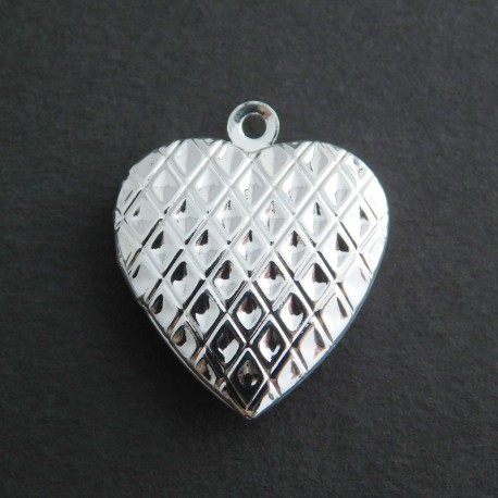 23mm Heart Locket - Silver Plated