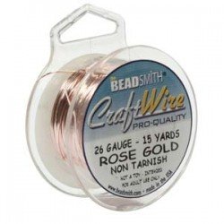 26ga Beadsmith Nickel Free Craft Wire - Rose Gold