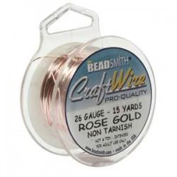 26ga Beadsmith Nickel Free Craft Wire - Rose Gold
