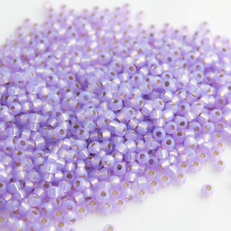 Miyuki Seed Beads 11/0 - Silver Lined Dyed Violet (574)