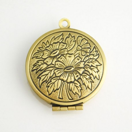 27mm Round Locket - Bronze Tone