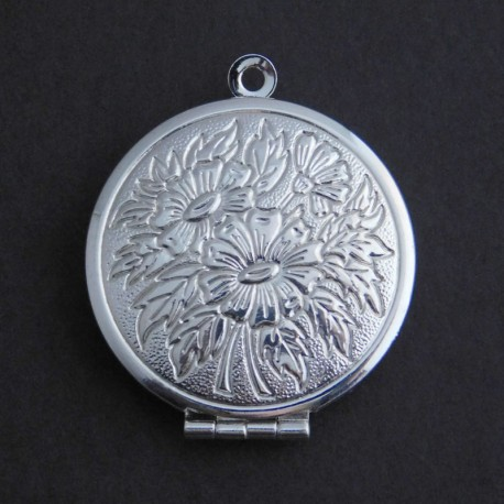 27mm Round Locket - Silver Plated