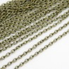 Bronze Tone Link Chain - 3mm x 2mm