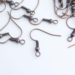 Copper Tone 18mm Earwires