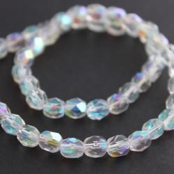 6mm Fire Polished Czech Glass Beads - Crystal AB