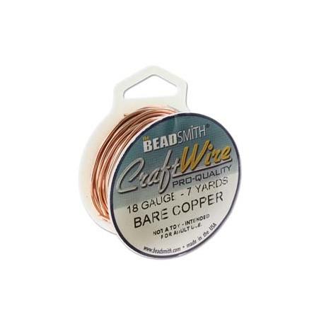 18 Gauge Beadsmith Nickel Free Craft Wire - Bare Copper