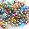 6mm Faceted Round Crystal Glass Beads - Electroplated Mix