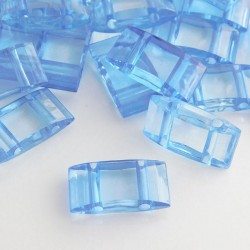 Acrylic Carrier Beads Blue - Pack of 30