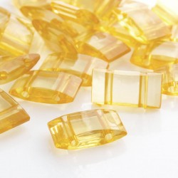 Acrylic Carrier Beads - Golden Yellow