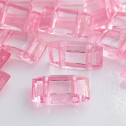 Acrylic Carrier Beads - Pink