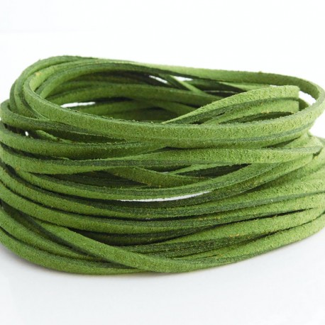 3mm Faux Suede Cord - Green