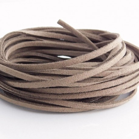 3mm Faux Suede Cord - Brown
