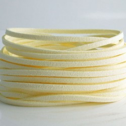 3mm Faux Suede Cord - Light Cream